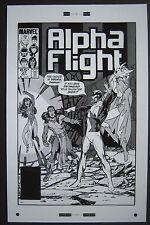 Large Production Art ALPHA FLIGHT #27 cover, JOHN BYRNE art, 11x17
