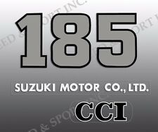 SUZUKI 1975 TS185 TS 185 SIERRA SIDE COVER DECALS GRAPHICS ONLY (see pic)