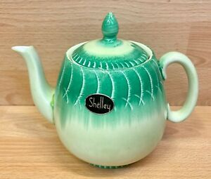 "Shelley Tulip Shape ""Harmony"" Drip Ware Pattern Teapot."