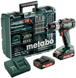 METABO Cordless Hammer Drill SB18L + SC30 Set Includes 2 Li-ion Batteries