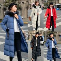 Winter Coat Women Long Jacket Thick Down Cotton Parka Warm Hooded Outerwear