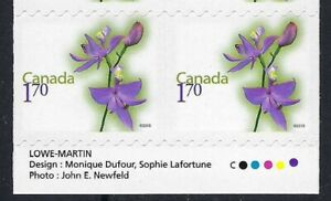 Canada BK421: $1.70 Grass Pink Flower with violet colour shift, Scott 2364a