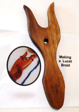 Lucet for Leather Braiding & Cording~ Handmade Poplar Hardwood~ Instruction Book