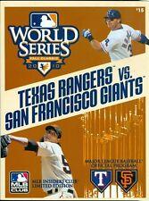 2010 World Series Program: Texas Rangers vs San Francisco Giants