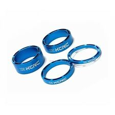 "NEW KCNC HOLLOW 1 1/8"" HEADSET SPACER SET 3-5-10-14MM ROAD MTB - BLUE"