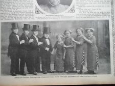 1911 Berlin Kurfürstenoper Zwerge Liliputaner Zirkus Variete
