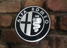"ALFA ROMEO Circular Logo Garage Workshop Wall Plaque Sign 8"" Classic Car Gift"