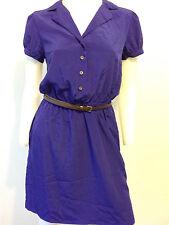 NEW RETRO VINTAGE ROYAL BLUE BELT DRESS MOD CAP SLEEVE 60S 70S S