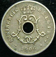 1906 Bélgica Belgie Belgique 5 centavos ctms