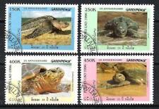 Animaux Tortues Laos (100) série complète 4 timbres oblitérés