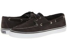 10M SPERRY TOP SIDER BAHAMA GRAPHITE SUEDE WOMENS CHARCOAL SNEAKER BOAT SHOES