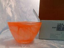 NIB PartyLite Indulgences Exhilaration Orange Swirl Glass Candle Holder - P7166