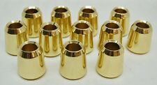 """12 POLISHED BRASS, SMOOTH CANDLE FOLLOWERS FOR 7/8"""" CANDLES (BURNERS - TOPPERS)"""