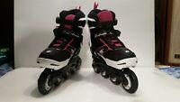 Unused Rollerblade Girls Spitfire JR XTG Kids Skate Black/Pink Adjustable sz 2-5