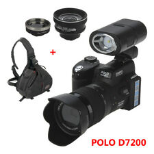 POLO D7200 Cámaras Digitales 33MP DSLR+Spotlight+24X Telescope Lens+Portable Bag