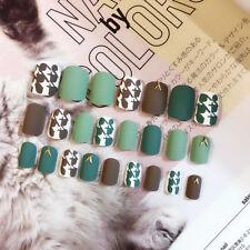 24Pcs/Set French Style Acrylic Matte Fake Nails Short False Nails Frosted New