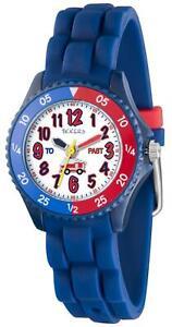Tikkers Children's Fire Engine Theme Time Teacher Watch - NTK0027