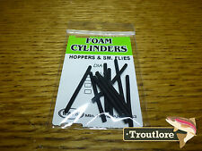 Wapsi Black Foam Cylinders Extra Small - Fly Tying Materials