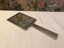Handspiegel 50er/ 60er Facettenschliff top Teil ca 26x10 cm