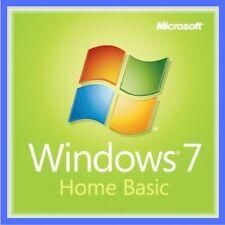 Windows 7 Home Basic 32/64 Bit genuino producto de código de serie de la clave de licencia