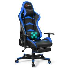 Goplus Massage Gaming Chair Reclining Swivel Racing Office Chair with Footrest