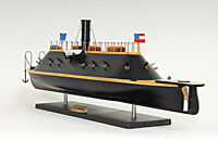 """CSS Virginia Civil War Ironclad Wooden Ship Scale Model 28"""" Confederate Navy New"""