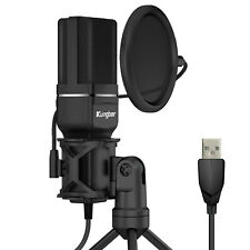 Pc Usb Condenser microphone set with tripod/pop guard/shock mount Sf-777 Kungber