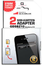 Blackberry Z10 Dual SIM Adapter Karte Card GDSBZ10