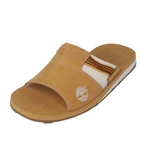 Timberland Athletic Slide 4 Classics Leather Mens Sandals Sz 10 Wheat 38059 Rare