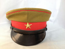 WWII Imperial Japanese Army Officer's Wool Visor Crusher Cap Hat Size M