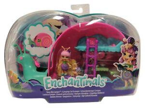 Mattel Enchantimals Blütenpark Schneckentempo-Camper Mini-Puppen Spielset