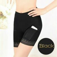 Lady Modal Long Leg Briefs with Pockets Underwear Pettipants French Knicker Soft
