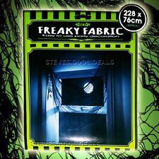 CREEPY FREAKY CLOTH HALLOWEEN FRIGHT NIGHT WINDOW DECORATION FABRIC BLACK SPOOKY