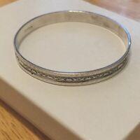 Classic Vintage Sterling Silver Bangle Bracelet 8.5 Round