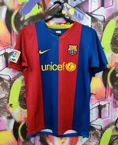 Barcelona Barca Spain Football Shirt Soccer Jersey Top Nike Youth size L