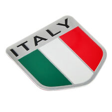 Car Truck Italian Italy Flag Emblem Sticker Metal Badge Decal Decor Aluminium