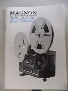 Instructions cine movie projector MAGNON 8mm SD-800 - CD/Email