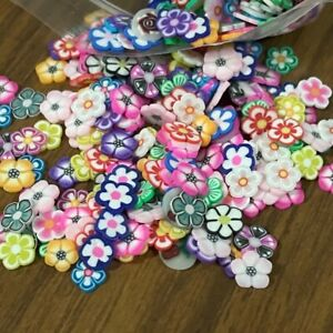 1000pc Tiny Clay Flowers Plant Petals flatback beads craft embellishment #2051