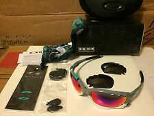 NEW Oakley 30 Years Racing Jacket Polished Fog 2 sets lens +Red &Black OO9171-23