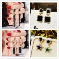 Women Fashion Statement Boho Geometric Big Pendant Ear Stud Dangle Drop Earrings