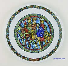 "8.5"" Plate, Noel Vitrail Christmas, Mint! D'Arceau Limoges, Guided By The Star"