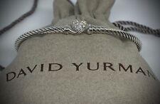 David Yurman Cable Collectibles Heart Bracelet with Diamonds Sz.M