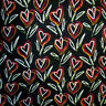 Top Italian fashion brand authentic pure mulberry silk jersey fabric Heart print