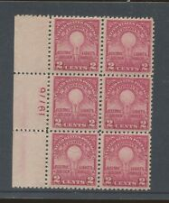 1929 US Postage Stamp #654 Mint Never Hinged Very Fine Plate No 19776 Block of 6