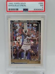 SHAQUILLE ONEAL 1992-93 TOPPS GOLD Rookie RC #362 - PSA 7 Near MINT