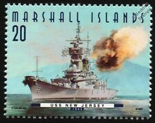 "USS NEW JERSEY (BB-62) ""Big J"" Iowa Class Battleship Warship Stamp (1997)"