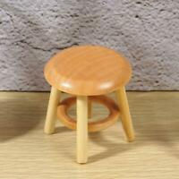 1:12 Dollhouse Mini Furniture Miniature Wood Stool Bedroom Life Scenes Decor