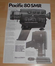 prospekt faltblatt film kamera chinon pacific 80SMR  alt reklame werbung 1970 er