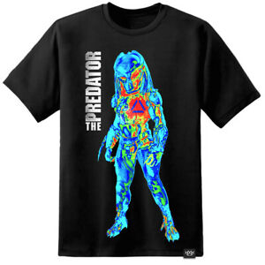 Predator Thermal Fugitive Yautja Movie T Shirt Poster Arnie Nostromo Aliens Mens