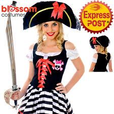 8120 Black Fancy Pirate Hat Swashbuckler Halloween Dress Up Costume Accessory